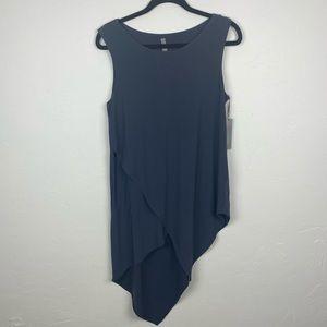 Last Tango top Grey asymmetrical long tunic